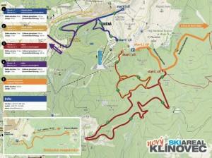 Běžecké trasy v okolí Klínovce