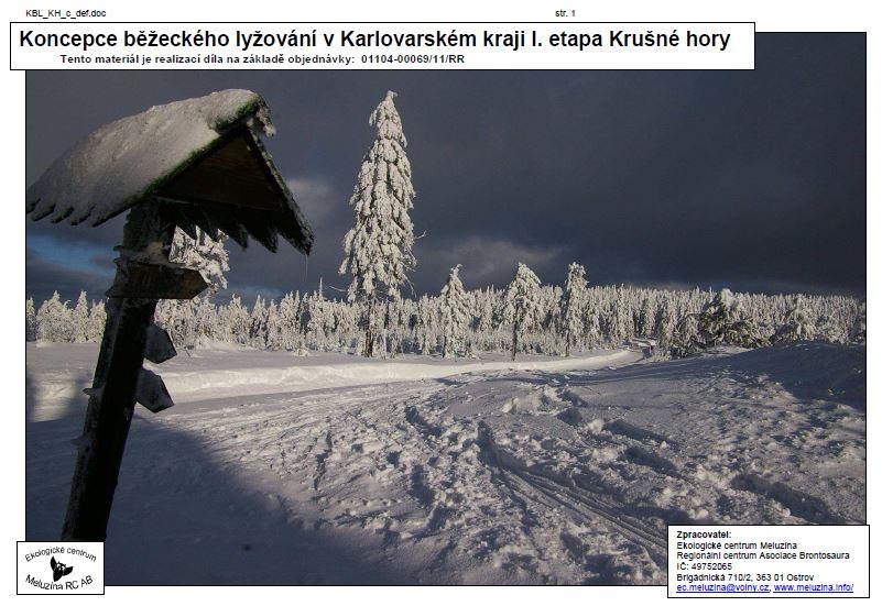 Koncepce běž. lyžování KV kraje