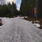 Černá cesta/magistrála u Perninku